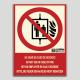 No utilizar en caso de incendio (ascensor)