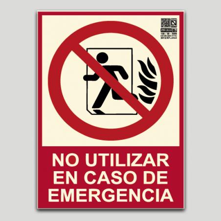 No utilizar en caso de emergencia (Puerta)