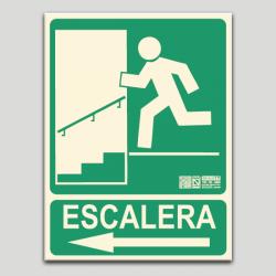 Escalera izquierda bajando