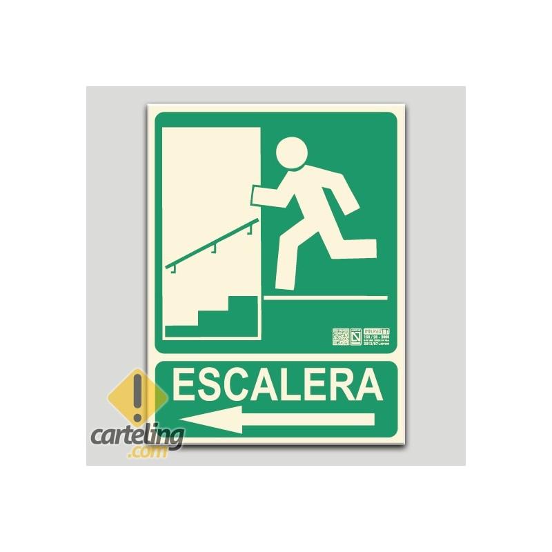 Escalera izquierda bajando (en español)