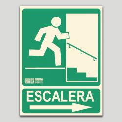 Escalera derecha bajando (en español)