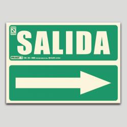 Salida con flecha a la derecha (en español)