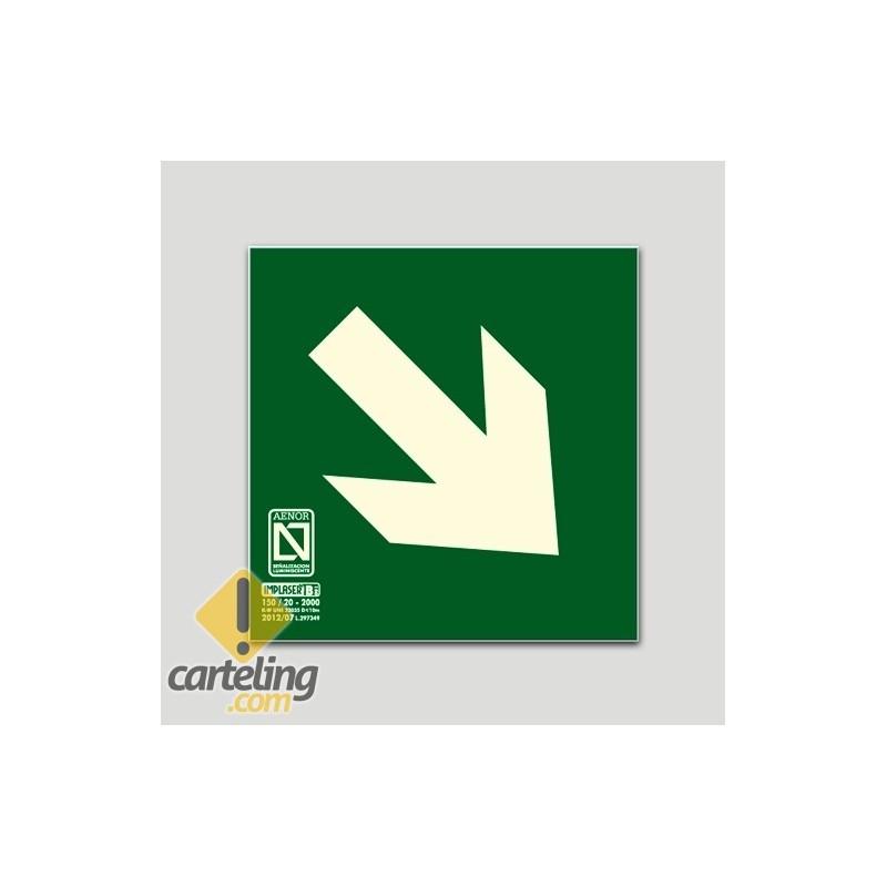 Flecha - Vía de evacuación diagonal