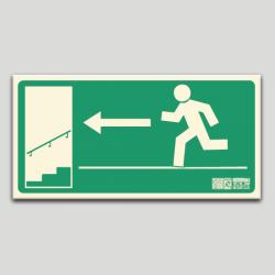 Escalera de emergencia izq. bajando sin texto