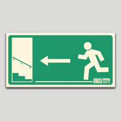 Escalera de emergencia izq. subiendo sin texto