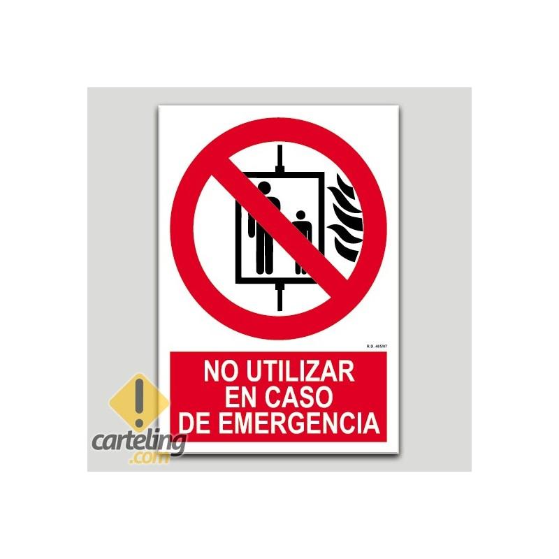 No utilizar en caso de emergencia