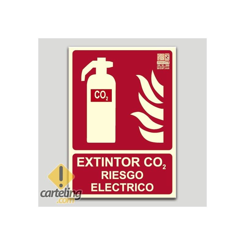 Extintor de CO2 - Riesgo eléctrico