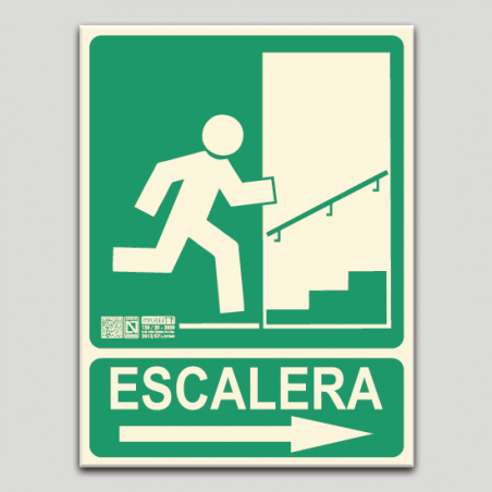 Escalera derecha subiendo