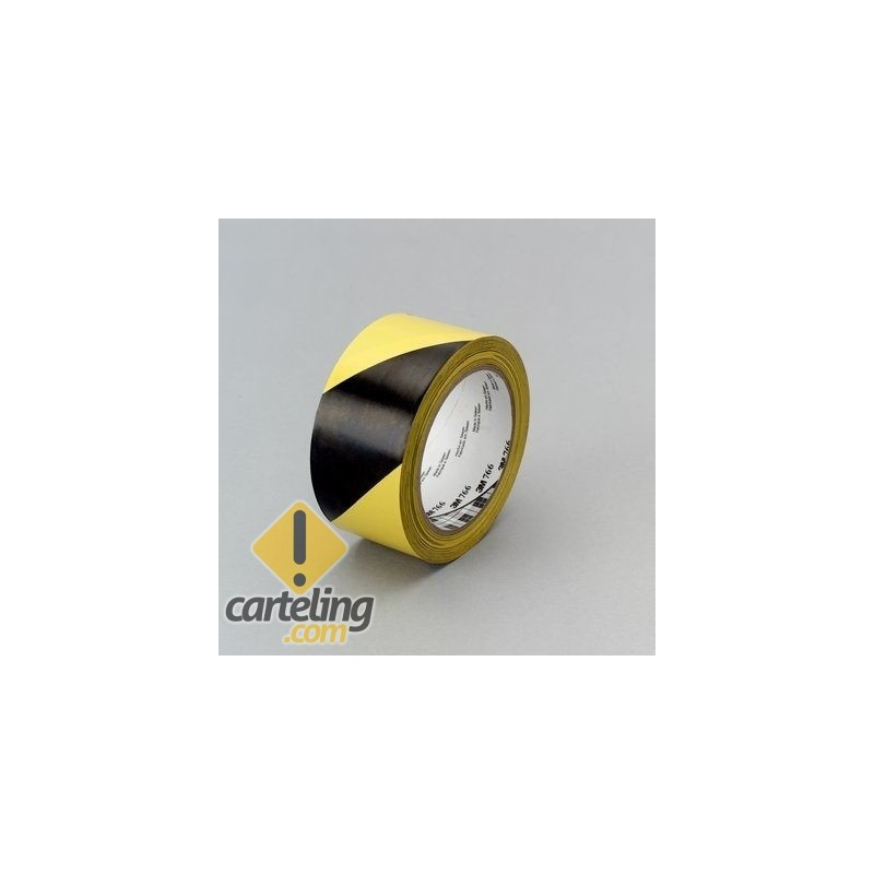 Cinta de marcaje de suelos 3M amarillo negro 33m x5cm