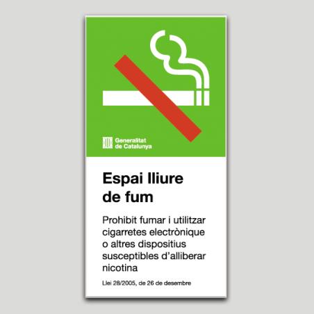 Espai lliure de fum (Prohibit fumar) - Catalunya