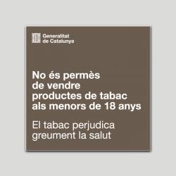 No está permitido vender productos de tabaco a menores de 18 años - Cataluña