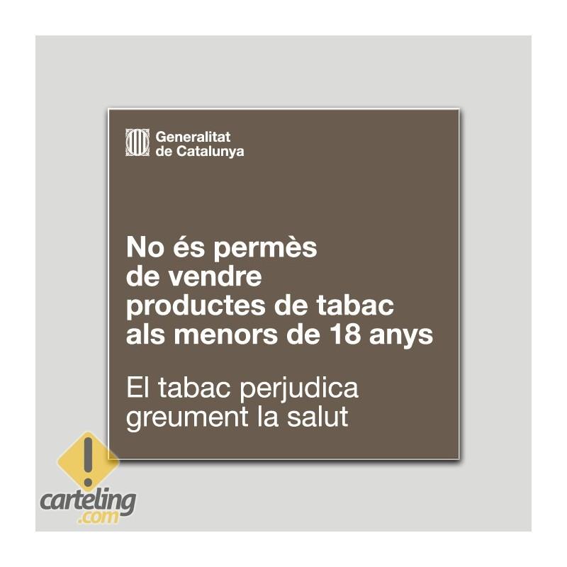 Prohibició als menors d'edat de la venda de productes del tabac. - Catalunya