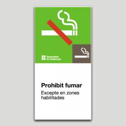 Prohibido fumar excep.zonas habilitadas - Cataluña