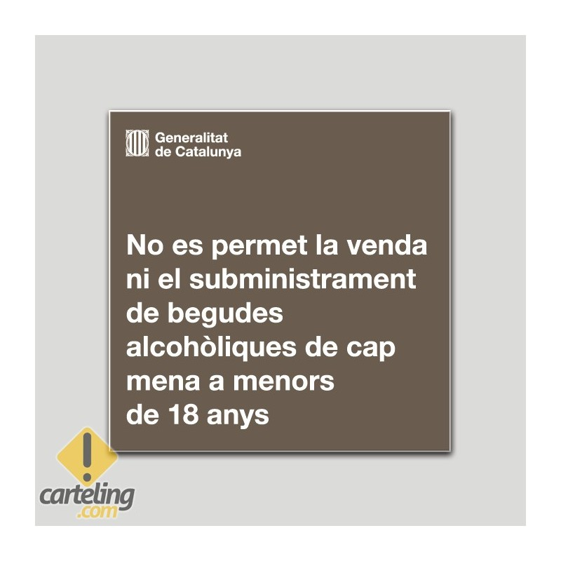 No se permite la venta ni el suministro de bebidas alcohólicas a menores de 18 años - Catalá