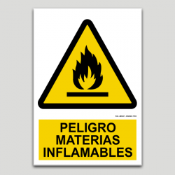 Peligro materias inflamables