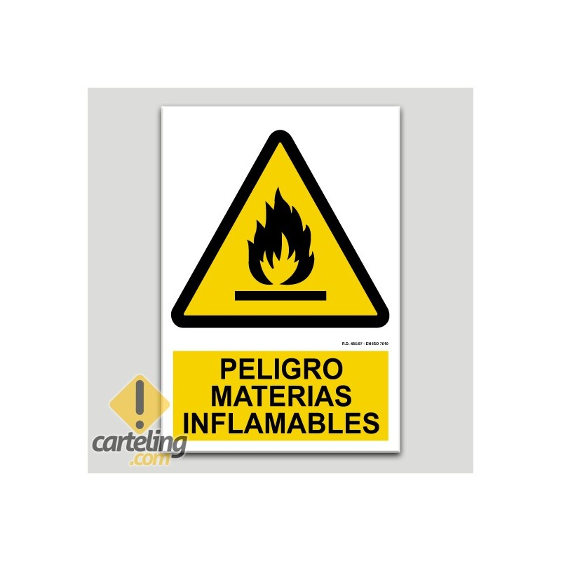 Peligro materiales inflamables