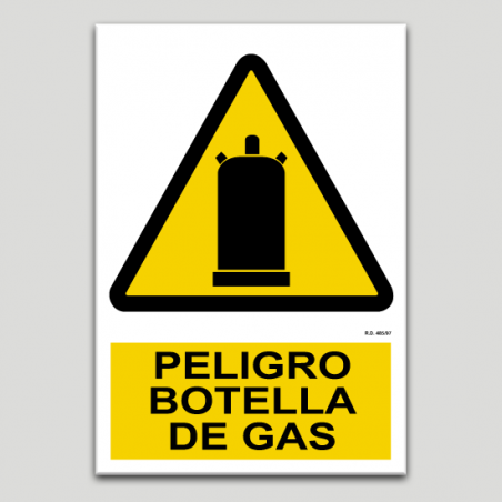 Peligro botella de gas