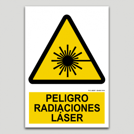 Peligro, radiaciones laser