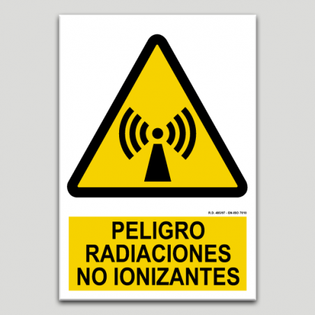 Peligro, radiaciones no ionizantes