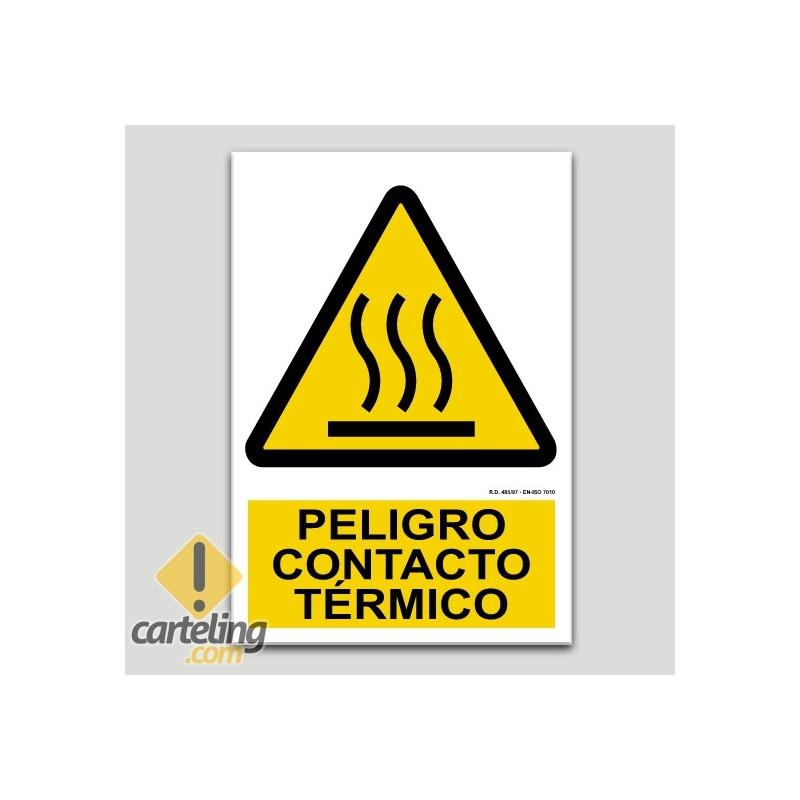 Peligro contacto térmico