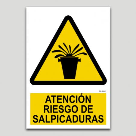 Atenció risc d'esquitxades