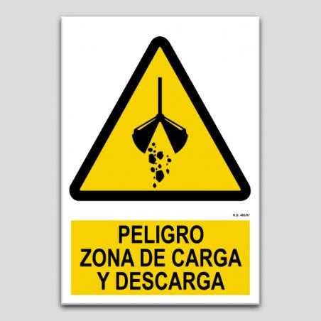 Perill, zona de càrrega y descàrrega