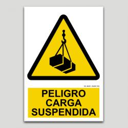 Peligro, carga suspendida