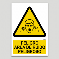 Peligro, area de ruido peligroso