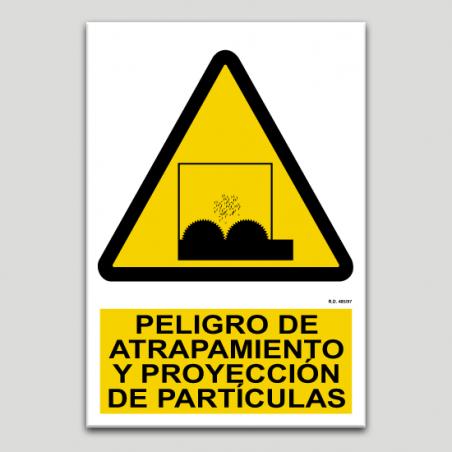 Peligro de atrapamiento y proyección de partículas