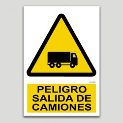 Peligro, salida de camiones