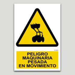 Peligro, maquinaria pesada en movimiento