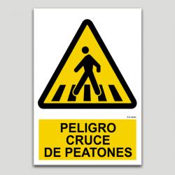 Peligro, cruce de peatones