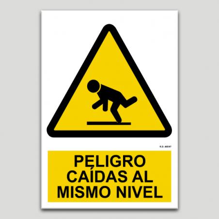 Perill, caigudes a mateix nivell