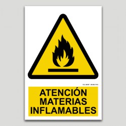 Atenció materials inflamables