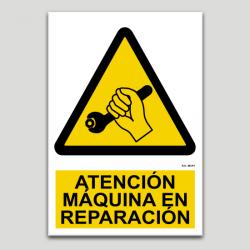 Atención, máquina en reparación