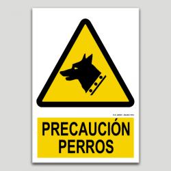 Precaución perros