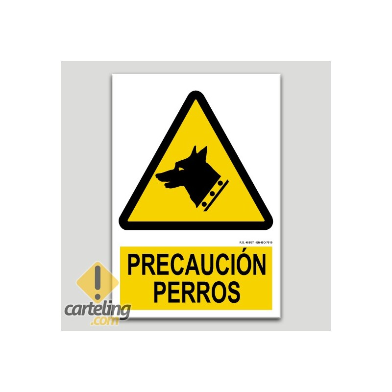 Precaució gossos