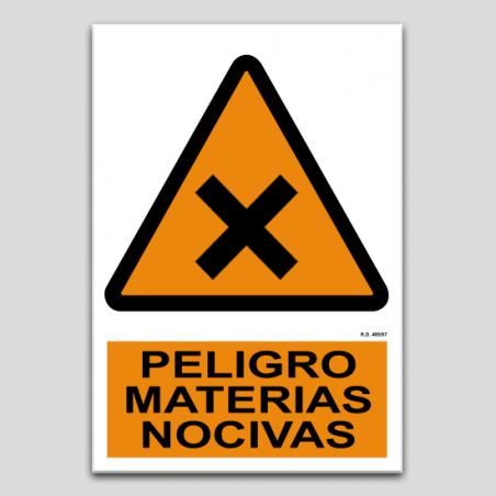 Peligro materias nocivas