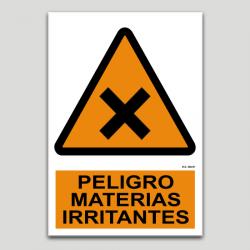 Peligro materias irritantes