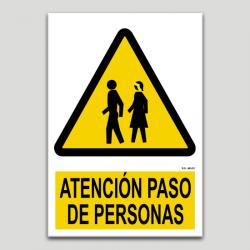 Atención paso de personas