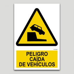Peligro caida de vehículos