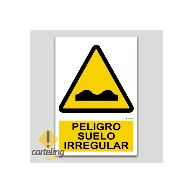 Peligro suelo irregular