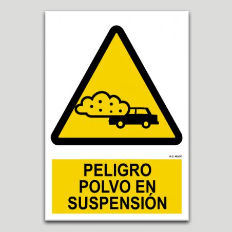 Peligro polvo en suspensión