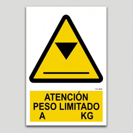 Atenció pes limitat