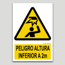 Perill alçada inferior a dos metres