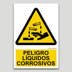 Perill liquids corrosius