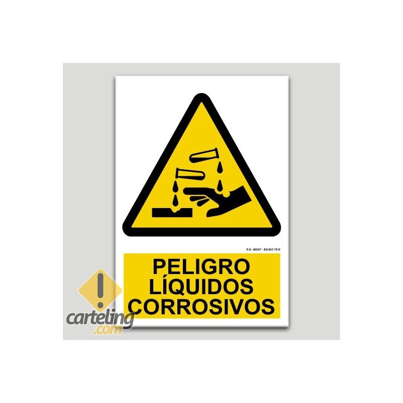 Peligro líquidos corrosivos