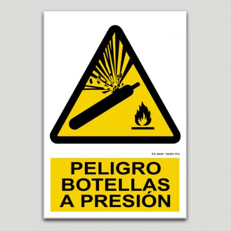 Peligro botellas a presión