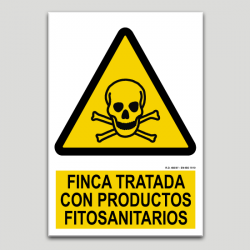 Finca tratada con productos fitosanitarios