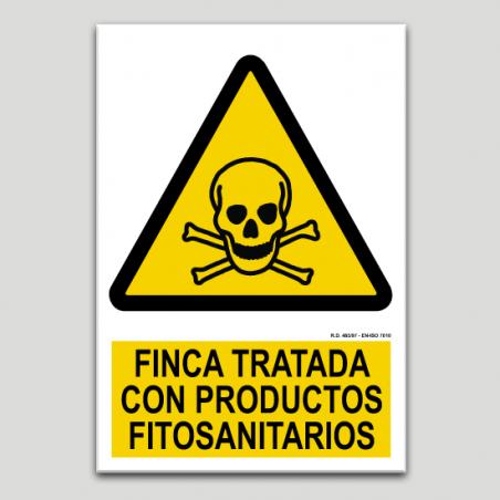 Finca tractada amb productes fitosanitaris